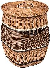 Prestige Wicker Laundry Wicker Basket with Lid,