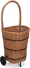 Prestige Wicker Trolley Basket Shopping/Log