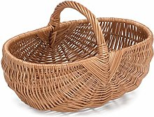 Prestige Wicker Wicker Basket, Natural, One Size