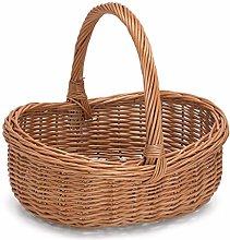 Prestige Wicker Wicker Basket, Willow, Natural,