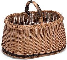Prestige Wicker Willow Basket with Handle,