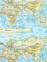 Prestigious Textiles World Maps PVC Tablecloth
