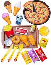 Pretend Play Food Set, 27pcs Hot Fast Food Diner