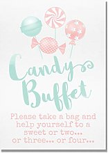 Pretty Candy Buffet Table Sign (ZZ)