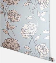 Pretty Floral Soft Blue Wallpaper 688002 - Arthouse