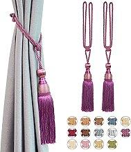 Pretty Jolly 2 Pack Mesh Ball Tassel Curtain