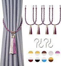 Pretty Jolly 4 Pack Two-color Tassel Curtain Ropes