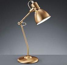 Pretty Keali table lamp, antique brass