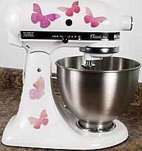 Pretty Pink Butterflies Kitchen Mixer Mixing