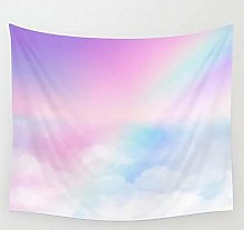 Pretty Rainbow Tapestry Wall Hanging Beach Throw