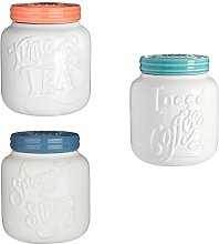 Pretty Things Tea Coffee And Sugar Canister