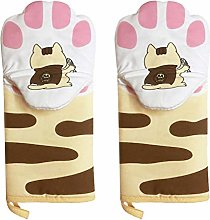 PRETYZOOM 1 Pair Oven Mitts Cat Paws Heat