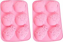 PRETYZOOM 2pcs Easter Egg Silicone Chocolate Mold