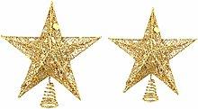 PRETYZOOM Christmas 25cm 20cm Iron Star Christmas