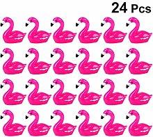 PRETYZOOM Miniature Flamingo Figurine Figure Resin
