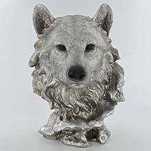 Prezents.com Antique Silver- Wolf Head Sculpture