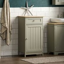 Priano 1 Door 1 Drawer Freestanding Cabinet, Grey