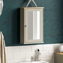 Priano 1 Door Mirrored Wall Cabinet, Grey