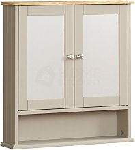 Priano 2 Door Mirrored Wall Cabinet With Shelf,