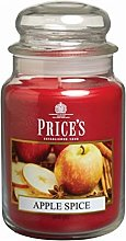 Price's Candles Large Jar Candle, Apple Spice