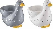 Price & Kensington Madison Egg Cup, Ceramic, Grey