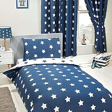 Price Right Home Navy Blue and White Stars 4 in 1