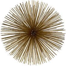 Prickle brass Large Decoration - / Ø 26 cm -