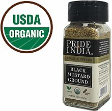 Pride Of India -Organic Black Mustard Seed Ground-