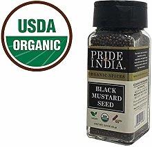 Pride Of India - Organic Black Mustard Seed Whole