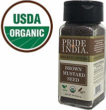 Pride Of India - Organic Brown Mustard Seed Whole-