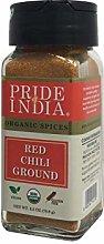 Pride Of India - Organic Red Chili Ground Hot -