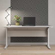 Prima Desk 150 cm in White with Height adjustable