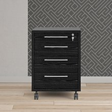 Prima Mobile file cabinet in Black woodgrain