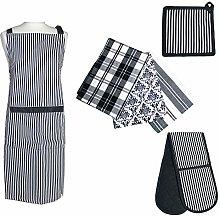 Prime Homewares Black Stripe Design Pot Holder,