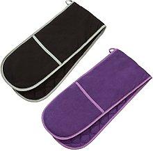 Prime Homewares® Plain Colour Double Oven Gloves,