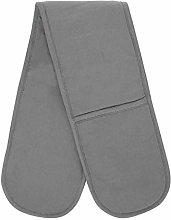 PRIME Homewares Solid Grey Double Oven Glove 100%
