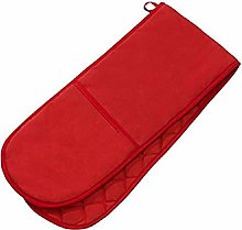 PRIME Homewares Solid Red Double Oven Glove 100%