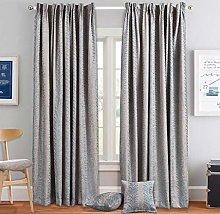 Prime Linens Heavy Jacquard Pair Curtain Fully