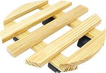 PrimeMatik - Round wooden roller platform dolly