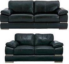 Primo Italian Leather 3 Seater + 2 Seater Sofa Set