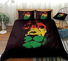 Prinbag 2/3PCS Lion Bedding Red Yellow Green Lion