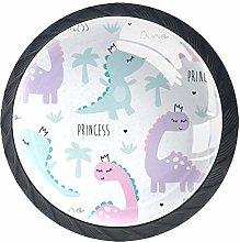 Princess Dinosaur Animal Pattern Cabinet Dresser