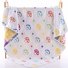 Prindong 6 Layers Super Soft Cotton Quilts Baby