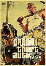 Print on canvas wall art Grand Theft Auto GTA 5