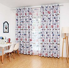 Printed Blackout Curtains for Kid's Bedroom