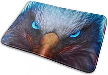 Printed Cool Eagle Blue Eyes Area Rug Contemporary