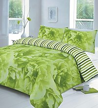 Printed Reversible Duvet Cover Set with