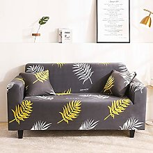 Printed Sofa Cover - Golden Nordic Leaves 3D