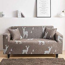 Printed Sofa Cover - Grey Geometric Elk 3D Printed