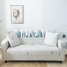 Printed Sofa Cover - Nordic Blue Cactus 3D Printed